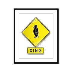 Penguin XING Framed Panel Print