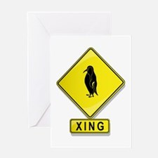 Penguin XING Greeting Card