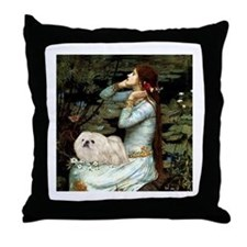 Ophelia /Pekingese(w) Throw Pillow