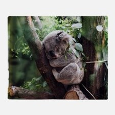 Funny Koala bear Throw Blanket