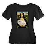 Mona /Pekingese (w) Women's Plus Size Scoop Neck D