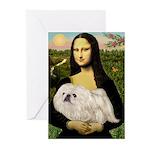 Mona /Pekingese (w) Greeting Cards (Pk of 10)