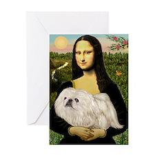 Mona /Pekingese (w) Greeting Card