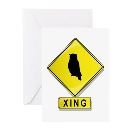 Owl XING Greeting Cards (Pk of 20)