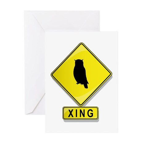 Owl XING Greeting Card