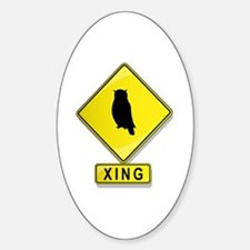 Owl XING Oval Decal