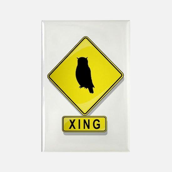 Owl XING Rectangle Magnet