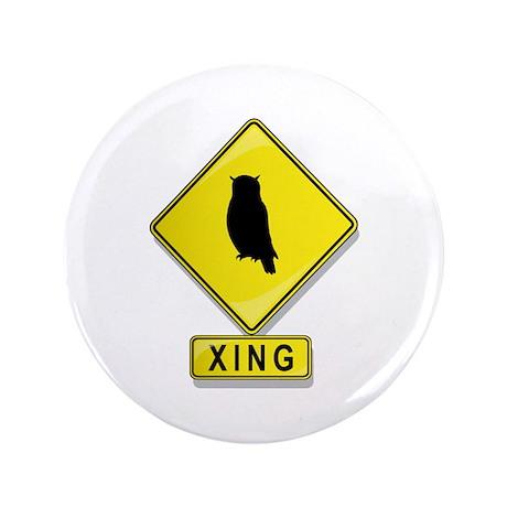 "Owl XING 3.5"" Button"