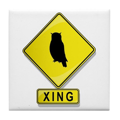 Owl XING Tile Coaster
