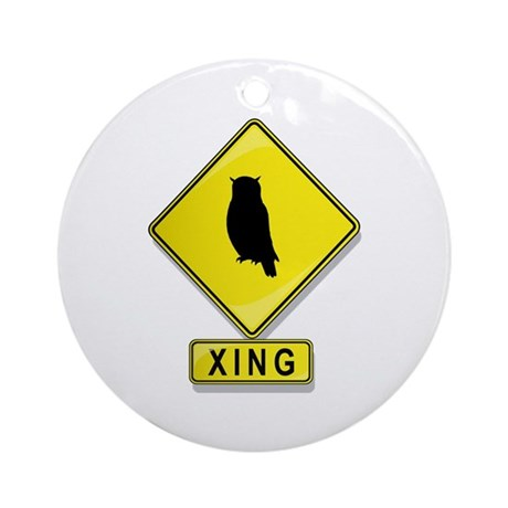 Owl XING Ornament (Round)