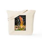 Fairies / Pekingese(r&w) Tote Bag