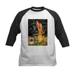 Fairies / Pekingese(r&w) Kids Baseball Jersey