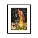 Fairies / Pekingese(r&w) Framed Panel Print