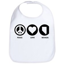 Peace Love Nevada Bib