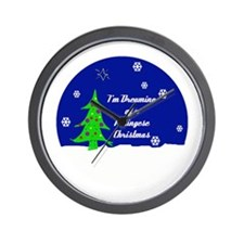 A Pekingese Christmas Wall Clock