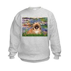 Lilies / Pekingese(r&w) Sweatshirt