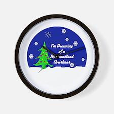 A Newfoundland Christmas Wall Clock