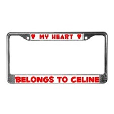 Heart Belongs to Celine - License Plate Frame