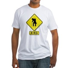 Old Person Crossing XING Shirt