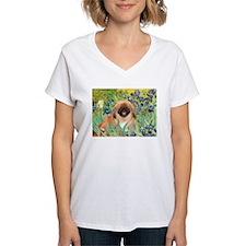 Irises / Pekingese(r&w) Shirt