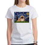 Starry / Pekingese(r&w) Women's T-Shirt