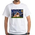 Starry / Pekingese(r&w) White T-Shirt