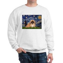 Starry / Pekingese(r&w) Sweatshirt