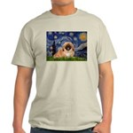 Starry / Pekingese(r&w) Light T-Shirt