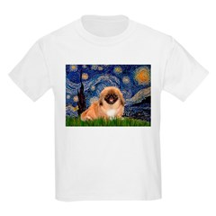 Starry / Pekingese(r&w) T-Shirt