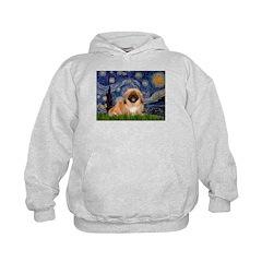 Starry / Pekingese(r&w) Hoodie