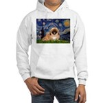 Starry / Pekingese(r&w) Hooded Sweatshirt