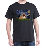Starry / Pekingese(r&w) Dark T-Shirt