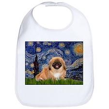 Starry / Pekingese(r&w) Bib