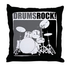 Drums Rock Throw Pillow