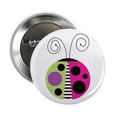 "Funky Ladybug 2.25"" Button"