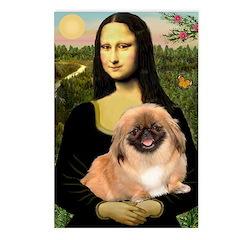 Mona / Pekingese(r&w) Postcards (Package of 8)