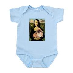 Mona / Pekingese(r&w) Infant Bodysuit