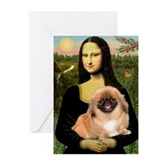 Mona / Pekingese(r&w) Greeting Cards (Pk of 20)