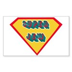 SuperJew Rectangle Sticker