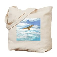 Red Tail Hawk in the Clouds Tote Bag