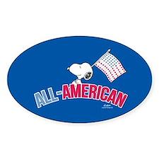 Snoopy - All American Full Bleed Sticker