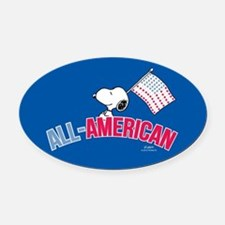 Snoopy - All American Full Bleed Oval Car Magnet