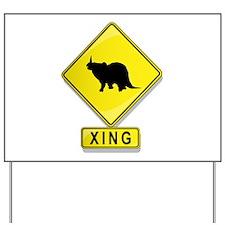Monoclonius XING Yard Sign
