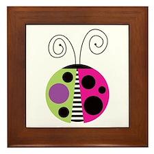 Funky Ladybug Framed Tile