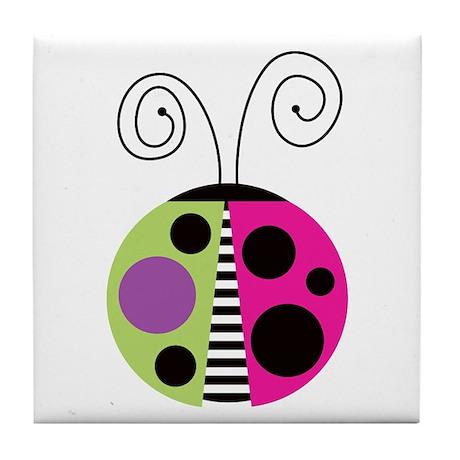 Funky Ladybug Tile Coaster