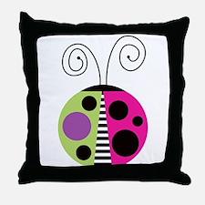 Funky Ladybug Throw Pillow
