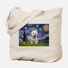 Starry - Westie (P) Tote Bag