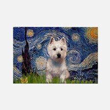 Starry - Westie (P) Rectangle Magnet