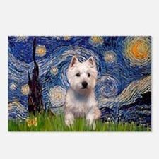Starry - Westie (P) Postcards (Package of 8)