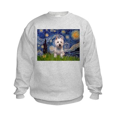 Starry - Westie (P) Kids Sweatshirt